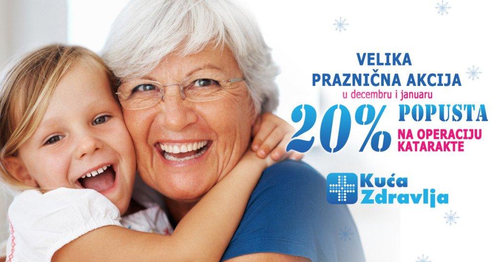 Operacija katarakte - 20% popust