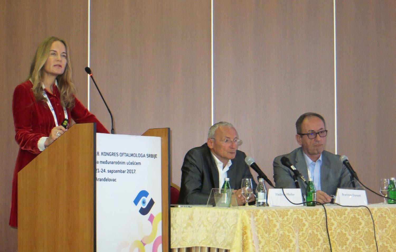 dr Branka Ivošević na XVIII Kongresu oftalmologa Srbije