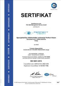 PERFECT VISION sertifikat